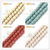 Wholesale Lava Rock Beads mm Round Selectable Color Natural Stone Beads For Jewelry Making Diy Bracelet Strand quot