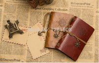 spiral notebook - Vintage PU Leather Journal paper Notebook Classic Retro Spiral Ring Binder Diary Book Custom logo print Words Gift