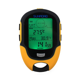 Wholesale Sunroad FR500 Multifunction LCD Digital Altimeter Barometer Compass Thermometer Hygrometer Weather Forecast LED Torch H13740