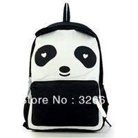 Wholesale New Shoulder Bag fral honey beans giant panda bag black and white color block canvas bag cartoon backpack
