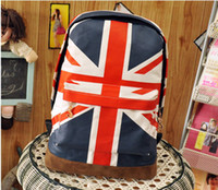 Wholesale new Olympic Games American US UK Flag Star Spangled Banner Backpack Shool Bag Student
