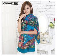 Wholesale 2014 women large long warm winter fashion cotton scarf red black lady cheap cotton shawls scarf pashminas cm