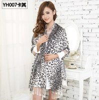 Wholesale 2014 slanting stripe cotton scarf women s winter thermal large long fashion cheap leopard print cotton scarf shawls cm