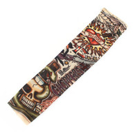 Wholesale Heart Skull Stretchy Slip on Temporary Tattoo Arm Sleeve Stocking for Child