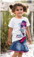 Wholesale girl my little pony name brand baby girl clothes converse all star jean skirt two pieces sets best quality
