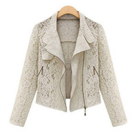 Cheap Wholesale-Lace blazer coat short women blaser clothes casacos femininos cardigan body blusa de renda roupas femininas terno sexo fashion