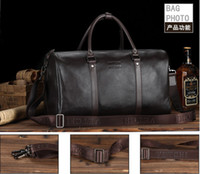 Wholesale new brand cowhide genuine leather man bag designer luggage travel bags men s weekender bag items TB90
