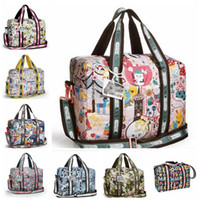 Wholesale free drop shipping artist design cute printing women duffle Bag Girl casual travel tote children shoulder bag
