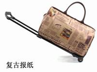 Wholesale Vintage trolley bag trolley luggage metal portable waterproof portable travel bag large capacity handbag