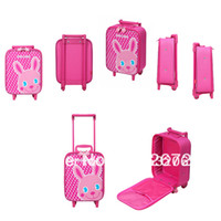 hand trolley - Casual children travel trolley luggage bag child hand kids trolley bag with
