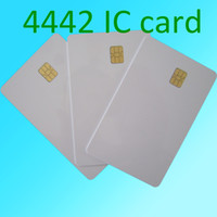 pvc card - Plain White PVC Plastic SLE4442 Contact CHIP Cards for ID Card Printers SLE