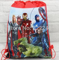 Wholesale 15pc new style Christmas Non woven Avengers Backpacks Printed School bag shopping bag Party Favors nice gift design KB110209