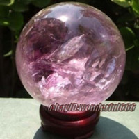 Wholesale beautiful Natural amethyst Feng Shui crystal ball Healing sphere mm stand
