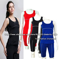 wholesale ladies wear - SE18 Ladies Women Sports Wear Clothing Sets Body Compression Under Base Layer Tank Tops Gym Yoga Shirt Skins Vest Pants Shorts