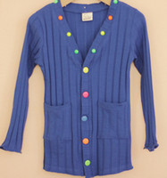 Wholesale New cm Children Kids Girls Solid Colored Button Cardigan Jacket Outerwear sizes each color