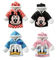 Wholesale New baby hoodies baby Baby Boy Baby Girl Winter fashion jacket Minnie Mouse color coat newborn Cotton clothes