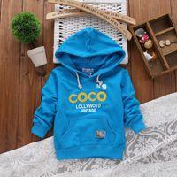 Wholesale New Spring cotton children hoodies boys girls sweatshirt Letter COCO N9 Vintage baby casual clothes children outerwear