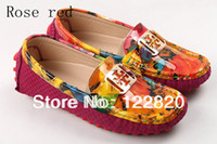 Wholesale New Arrival Women Genuine Leather Shoes Summer Shoes Loafers Shoes Flat Shoes Color Size WD