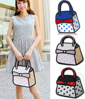 Wholesale D Jump Style D Drawing From Cartoon Paper Bag Comic Cute Tote Handbags Purse