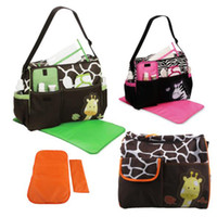Wholesale Fashion Durable Zebra Giraffe Animal Printed Nappy Bag Multifunctional Mummy Maternity Diaper Bags large capacity