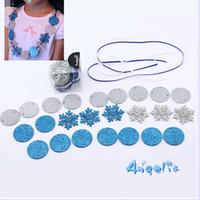 Cheap Wholesale-26pcs lot Frozen princess DIY necklace party games for children birthday party supplies dress kids Frozen party supplies