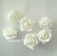 Wholesale cm White DIY Accessories Artificial EVA Foam Rose Flower Heads For Wedding Decoration Flower Ball Making
