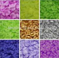 Wholesale Colors Hot Colors Wedding Decorations Fashion Artificial Silk Rose Petals for Wedding Or Event Party Flowers