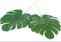 Wholesale pieces large silk palm leaves wedding birthday christmas party home garden DIY flowers decorations