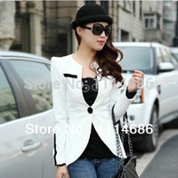Wholesale New Spring models Temperament Shrug one s shoulders single button High end Fabric Women Small suit Coat
