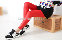 Cheap Wholesale-9 Colors Girl Must Have Sexy All match Ankle-length pu leather leggings Womens European brief style Pencil pants Free shipping