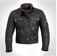 Wholesale steve mcqueen Man Jacket motorcycle jacket men s wax outerwear top quality The roadmaster Jacket