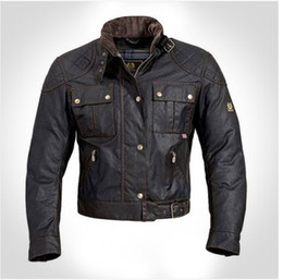 2017 chaquetas de los hombres de cera Al por mayor-steve mcqueen motocicleta del hombre de la chaqueta hombres chaqueta & amp; # 39; s de la calidad de la cera de vestir exteriores superior The Jacket roadmaster chaquetas de los hombres de cera baratos