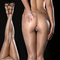 Cheap Wholesale-Super Thin DY Sexy hot Gipsy Women's Invisible Seamless oil silk Shiny Glossy Sheer Stocking Nylon pantyhose hose Tights