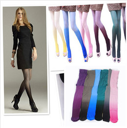 2017 jambes sexy bas Grossiste-Sexy Femmes Aquarelle Ombre Velours Collants Leg Collants Long Collants jambes sexy bas promotion