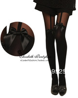 apparel pantyhose - Women Apparel amp Accessories Sexy Thigh High Stockings Pantyhose Lace Spaghetti Strap Hosiery Patchwork Tights With Bow black