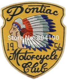 Wholesale 4 quot VINTAGE STYLE s REPRO MOTOCYCLE CLUB INDIAN CHIEF HOT ROD MC Biker Vest Metal Rock Punk applique iron on patch Patch