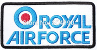 metal badges military - RAF Royal Air Force Target British Military Pilot Heavy Metal Band Music Iron On Patch Tshirt TRANSFER APPLIQUE Rock Punk Badge
