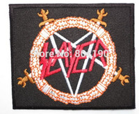 band slayer - 3 quot SLAYER Shield Heavy Metal Band Music Iron On Sew On Patch Tshirt TRANSFER MOTIF APPLIQUE Rock Punk Badge