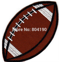 ball patches - 3 quot SPORT BALL Football Logo Iron On Patch jersey Sport Embroidered Iron On Sew On Patch Badge cheap dropship
