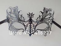 Wholesale Cool Spider Web Laser Cut Venetian Metal Halloween Masquerade Mask Women Men