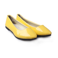 Wholesale Fashion women shoes solid candy color patent PU shoes woman flats new sapatilhas femininos ballet princess shoes for casual