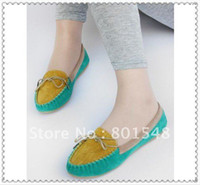 Wholesale Freeshipping by China post very good quality low price women casual shoes flat shoes cottom lady girl flats colors R053