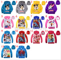Wholesale Minnie Mouse Printing Sport sweater Cartoon hoodies Children jackets amp coat girls boys outerwear baby Long sleeve sweatshirts