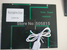 Wholesale 6V W MA solar panel with USB connector portable solar charger battery charger for Iphone mobile phone