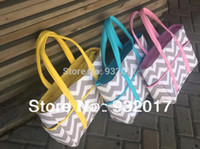 Wholesale new chevron diaper bags Chevron Diaper Bag Tote Nappy Bag Extra Large Gray and Aqua Grey gray and pink gray and blue