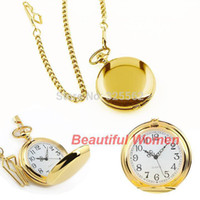 Wholesale Cheapest New Retro Classic Style Steampunk Quartz Bronze Pendant Chain Jewelry Mens Polish Pocket Watch b014 SV000494