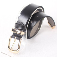 Wholesale thin unisex classic pin buckle w cm Band Women cow real genuine leather belt for women lady black