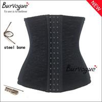 Wholesale hot sale waist training corsets shaper black underbust corset steel waist cincher shaper belt body shapers for women