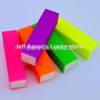 nail salon equipment - Neon colors Nail Art Buffer Block Sanding File Nail Care Tool beauty salon equipment