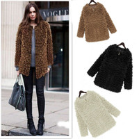 Wholesale New Women s Fur Fashion Clothing Winter Warm Slim Outerwear Coats White Black Short Zipper Jacket Faux Fur Coat For Women G0313